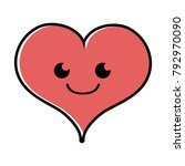 color smile heart passion... | Shutterstock .eps vector #792970090