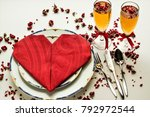 setting a romantic table with... | Shutterstock . vector #792972544