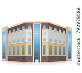 office building with entrance... | Shutterstock .eps vector #792978586