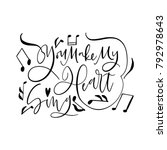 cute valentine's day lettering... | Shutterstock .eps vector #792978643