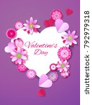 valentine  beautiful blossoming ... | Shutterstock .eps vector #792979318