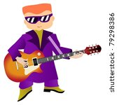 illustration of musician | Shutterstock . vector #79298386