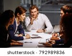 boss leader coaching and... | Shutterstock . vector #792989836