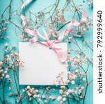 blank white greeting card with... | Shutterstock . vector #792999640