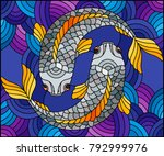 illustration in stained glass... | Shutterstock .eps vector #792999976