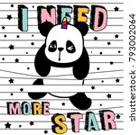 cute panda  stripes and panda i ...   Shutterstock .eps vector #793002064