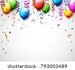 vector illustration of birthday ... | Shutterstock .eps vector #793003489