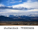 panoramic view from broomfield... | Shutterstock . vector #793003606