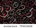 background of numbers. from... | Shutterstock . vector #793010608