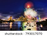 dark night in sydney during new ...   Shutterstock . vector #793017070
