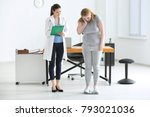 young female doctor measuring... | Shutterstock . vector #793021036