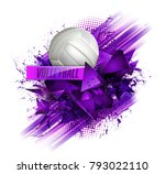 volleyball ball background text | Shutterstock .eps vector #793022110