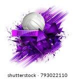 volleyball ball background text | Shutterstock .eps vector #793022110