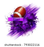 design with rugby ball | Shutterstock .eps vector #793022116