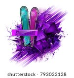 colored vector silhouette... | Shutterstock .eps vector #793022128