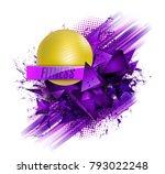 fitness text background ball | Shutterstock .eps vector #793022248