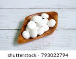 white naphthalene balls on... | Shutterstock . vector #793022794