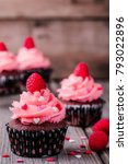 Chocolate Cupcakes With Pink...