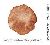 vector watercolor pattern.... | Shutterstock .eps vector #793024000