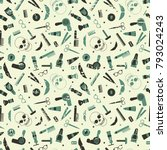 vector pattern of tools for a... | Shutterstock .eps vector #793024243