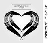 hair brush stroke vector | Shutterstock .eps vector #793024339