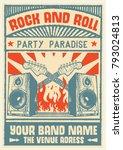 gig poster flyer art template  | Shutterstock .eps vector #793024813