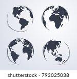 Hand Drawn Cute Cartoon Earth...