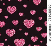 vector pattern with stylized... | Shutterstock .eps vector #793030510