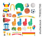 sport team supporters tools set ... | Shutterstock .eps vector #793032700