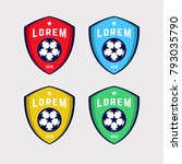 soccer logo or football club... | Shutterstock .eps vector #793035790