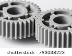 two plastic gears closeup... | Shutterstock . vector #793038223