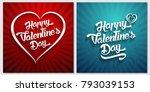 happy valentines day... | Shutterstock . vector #793039153