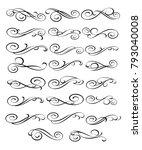 set design elements. vector... | Shutterstock .eps vector #793040008