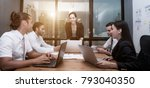 business conference... | Shutterstock . vector #793040350