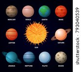 Set Of Planets Of Solar System...