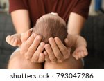 father with cute little baby at ... | Shutterstock . vector #793047286