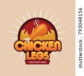 chicken leg vector illustration ... | Shutterstock .eps vector #793048156