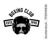 boxing club. emblem with boxing ... | Shutterstock .eps vector #793049830