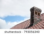 roof made of ceramic tiles and... | Shutterstock . vector #793056340