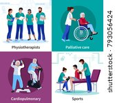 physiotherapy cardio... | Shutterstock . vector #793056424