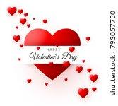 red heart   symbol of love.... | Shutterstock .eps vector #793057750