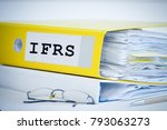ifrs standards folder with... | Shutterstock . vector #793063273