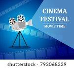 cinema festival. movie time...   Shutterstock .eps vector #793068229
