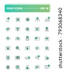 set of 30 line icons. seo and...