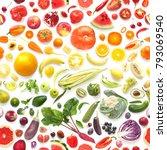 food texture. seamless pattern... | Shutterstock . vector #793069540