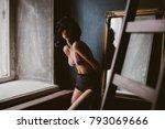 portrait of beautiful woman in... | Shutterstock . vector #793069666