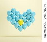 heart shape made of blue...   Shutterstock . vector #793070224