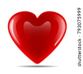 vector image of a heart on a... | Shutterstock .eps vector #793075999