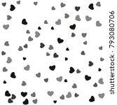 hearts confetti  bright... | Shutterstock .eps vector #793080706