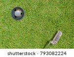 top views of golf ball and... | Shutterstock . vector #793082224
